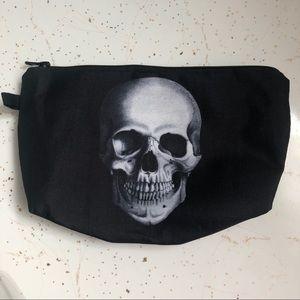 💄Black Skull Goth Makeup bag Cosmetics bag